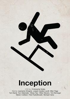 'Inception' pictogram movie poster by Viktor Hertz