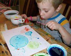 Homemade Mamas: Kid Crafts bubble art