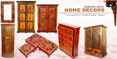 Custom designed, contemporary furniture's and handmade products for those who love to fabricate their sweet home with these enticing artistic wooden artifacts. Check-in to the showroom at Indranagar and Jayanagar, Bengaluru for historic collections of home decors, paintings, dolls and much more... #homedecors #woodenfurniture #tarangarts #arts #handicrafts Visit www.tarangarts.com to explore more about our collections.