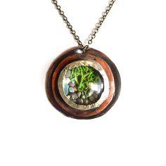 Copper Woodland Terrarium Necklace. so cute!
