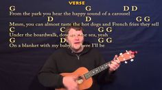 Under the Boardwalk (The Drifters) Baritone Ukulele Cover Lesson -Chords...