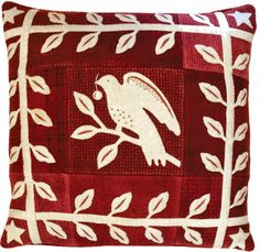 wool appliqué pillow pattern from the book Simply Red