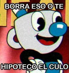 cuphead memes - [♦] o n e - Wattpad Memes Humor, Bts Memes, Funny Images, Funny Pictures, Spanish Humor, Cartoon Memes, Meme Faces, Stupid Memes, Mood Pics