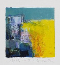 July 30 2017  Original Abstract Oil Painting  9x9 painting