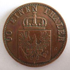 Pruisen 4 pfenninge 1867 C