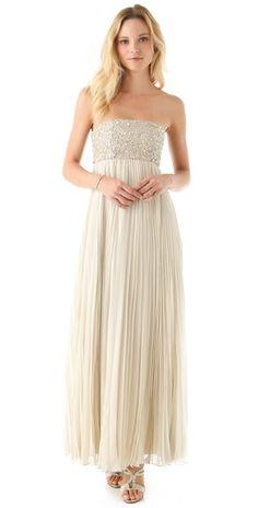 alice + olivia Sophia Maxi Dress - beautiful beading & pleating, looks comfortable too