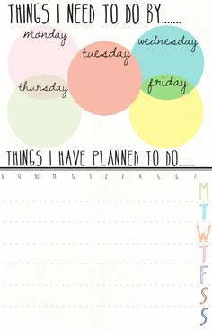 "Free printable ""To Do"" list"
