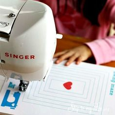 Printable Sewing Sheets to Get Your Kid Familiar With How to Use the Sewing Machine this is great for you selina to teach savannah