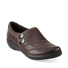 Ashland Alpine in Brown Leather - Womens Shoes from Clarks