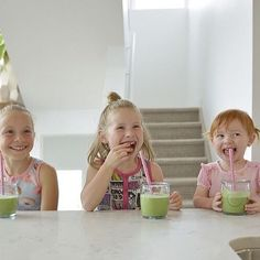 How cute are these girls? Enjoying their green smoothie using our little munchkins bone broth base for the extra kick of nutrients & protein! Bone Broth, These Girls, Smoothie, Protein, Kicks, Base, Green, Instagram, Bone Marrow Broth