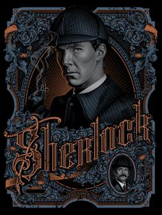 The 'Sherlock' inspired Baker Street' by Tracie Ching, is a new limited edition print release from Hero Complex Gallery. It's an x screenprint with metallic inks, in a Bronze Variant. Sherlock Holmes, Poster Sherlock, Sherlock John, Funny Sherlock, Sherlock Series, Jim Moriarty, Sherlock Quotes, Johnlock, Agatha Christie