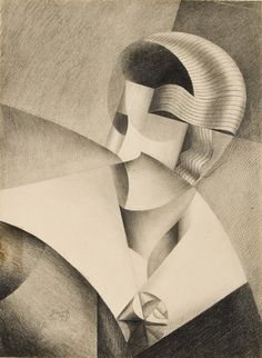 Marthe Donas - Tête cubiste There's criminally little available on Donas that doesn't merely relate who she knew (Picasso, De Stijl, Section D'Or) or present the vaguest of outlines of her life. Cubist Paintings, Cubism Art, Harlem Renaissance, Avantgarde, Georges Braque, Art Walk, European Paintings, Modern Artists, Magritte