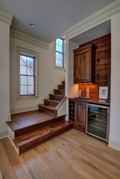 Old World Classics Model Home - Akron, Ohio rustic-staircase