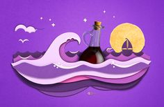 Beautiful illustration for PopChips packaging. - see salt and vinegar