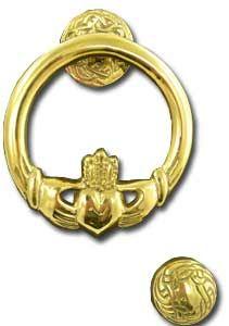Medium Brass Claddgh Door Knocker