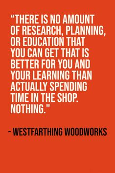 Academic learning about woodworking is always a good thing, and it can help you avoid mistakes. However, there is no substitute for working in the shop and putting in the reps. Woodworking Books, Woodworking Projects, Woodworking Beginner, Fun Projects, Wood Projects, Cool Things To Make, Good Things, Project Free, Wood Working For Beginners