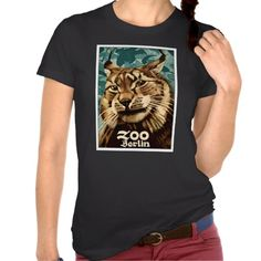 Shirts, clothing, drink ware, iphone, ipod and ipad covers, home accessories featuring an antique 1906 poster created by famed German poster artist Ludwig Hohlwein to promote the Berlin zoo in Germany, depicting a lynx wildcat. #berlin, #berlinzoo, #ludwighohlwein, #germany, #posterart, #vintageposter, , #lynx, #zooart, #wildcat, #retro, #antique, #1906, #lynxshirt