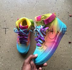 Custom Nike Air Force Ones | Instagram : tvche_