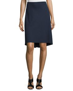 TBSSU Lafayette 148 New York Dropped-Hem Knit Skirt