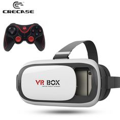 Find More 3D Glasses/ Virtual Reality Glasses Information about VR BOX 3D Glasses Enhanced Version Virtual Augmented Reality 3D Video Glasses For iPhone Smartphone + T3+ Bluetooth Controller,High Quality glasses frames face shape,China video camera glasses Suppliers, Cheap video glasses for ipod from GUANGZHOU CRECASE FLAGSHIP STORE on Aliexpress.com