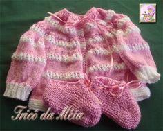 CASAQUINHO DE DÉBORA      PALA   http://tricodameia.blogspot.com/  LÃ ROSA  Montar 72 pontos e fazer 4 carreiras em *1t-1m*  5ªcar.-av- 5t-*...