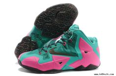 2013 Nike LeBron 11 Mint Green Pink Mens Basketball Shoes