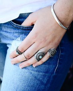 Antique Silver Turquoise Ring Set is the perfect boho accessory!