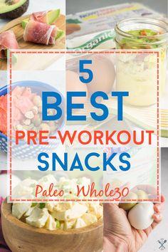 5 Best Pre-Workout Snacks