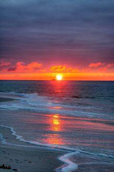 Sunrise at The Gulf Shores of Alabama