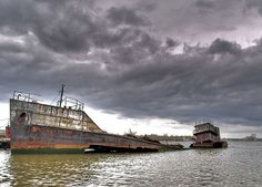 A boat graveyard in Staten Island, NY. USA. 11 NYC Spots You Probably Don't Know Exist via @PureWow