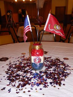 Military Retirement, Going Away Parties, Retirement Parties, Usmc, Hunters, Christmas Bulbs, Party Ideas, Entertaining, Decorating