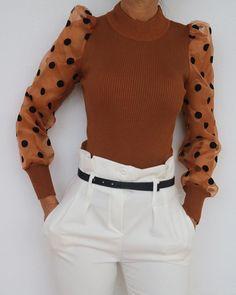 Women's Sheer Mesh See through Blouse 2019 New Fashion Elegant Slim Polka Dot Puff Long Sleeve Tops Shirt Turtleneck Fall Blouse on AliExpress - Day Blouses For Women, Sweaters For Women, Cristian Dior, Bodysuit Blouse, See Through Blouse, Casual Sweaters, Women's Sweaters, Pattern Fashion, Business Attire