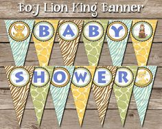 Instant Download Boy Lion King Baby Shower by ChrispixsCreations, $4.00