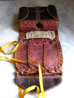 19th Century Shaker Sewing Leather Necessaire (for sale on Ruby Lane)