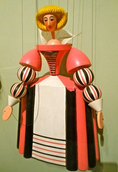 Olivia, 1995 execution of 1925 drawings by Anna Suchardova-Brichova.   Starr Review: Czech Puppets and Their Tradition, at the Columbus Museum of Art