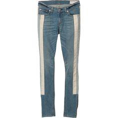 Rag & Bone Skinny Racer Jean ($264) ❤ liked on Polyvore
