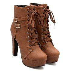 5f5608c37 Bota Marron Bota Coturno Feminina Dakota, Sapatos Da Moda, Sapatos Chiques,  Sapatos Para