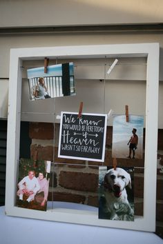 """""""We know you would be here today if heaven wasn't so far away""""—this remembrance board is perfect for a wedding // Leeann Ritch Photography"""