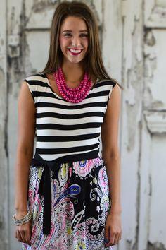 Cleo Striped Maxi Dress