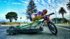 Motorized Drift Trike and Blokart in 4k I want motorized drift trikes like this so bad...