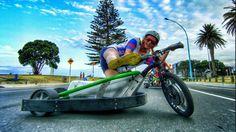 Motorized Drift Trike and Blokart in 4k I want motorized drift trikes like this so bad...