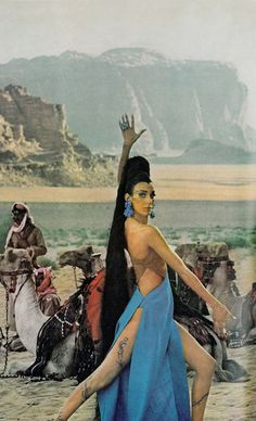 Editha, Brigitte Bauer and unknown models by Henry Clarke vogue 1965