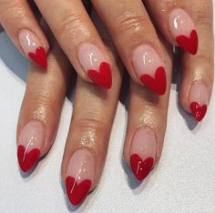 Red Heart Shape Nail Art / heart nails / valentine's day nails / heart nail art / nail art farbverlauf 12 Super Cute DIY Nail Designs To Try on Valentine's Day Heart Nail Designs, Valentine's Day Nail Designs, Art Designs, Claw Nails Designs, Pretty Designs, Design Ideas, Bright Nail Art, Valentine Nail Art, Valentine Gifts