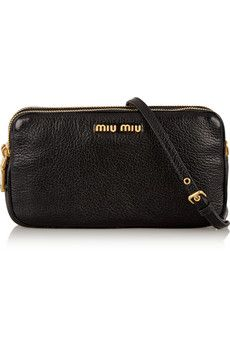 Miu Miu Small textured-leather camera bag | NET-A-PORTER