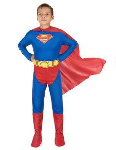 Disfraz de Superman™ para niño: Este disfraz de Superman™ con licencia oficial es de gran calidad y tiene unos excelentes acabados. El disfraz incluye una combinación y una capa con el logo de Superman™...