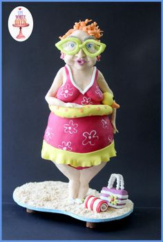 Bernice at the Beach - Sweet Summer Collaboration - Cake by Gauri Kekre