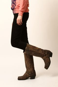 Vintage Leather Tall Boot