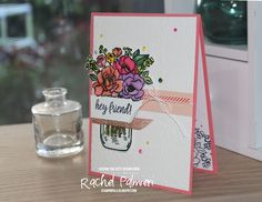 Stampin' Pals #rachelpalmieri #stampinup #handmadecards #jarofflowers #caseingthecatty Bone Folder, Bakers Twine, Glue Dots, Business Supplies, Starter Kit, Booklet, Smudging, Make Your Own, Floral Arrangements