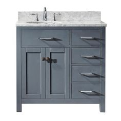 Inspired by the Caroline, the Caroline Parkway vanity offers a clean sleek structure with abundant storage. The vanity is constructed from quality solid wood and finished zero-emissions paint. This striking vanity will be a great centerpiece to any b Bathroom Vanity Cabinets, Single Bathroom Vanity, Bathroom Interior, Modern Bathroom, Bathroom Ideas, Bathroom Designs, Bathroom Showers, Diy Shower, Bathroom Organisation