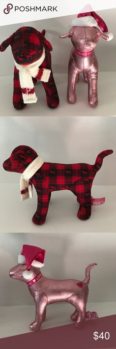 VS Christmas Dogs Perfect condition- super rare, not the mini size. PINK Other